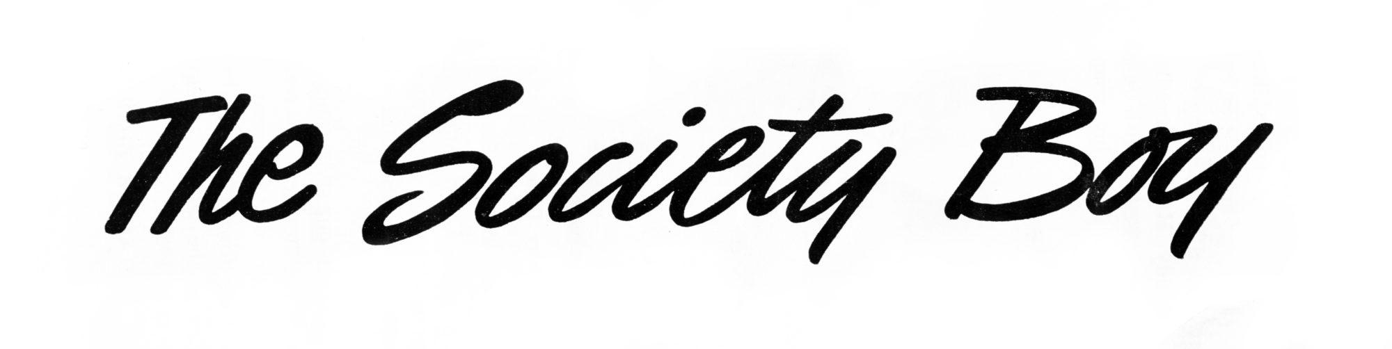 The Society Boy